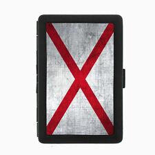 Alabama State Flag D1 Black Cigarette Case / Metal Wallet Smoking Smoke