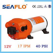 12 V DC Seaflo High Pressure 40 PSI Water Diaphrgam Pump 4.5 GPM For RV Safer