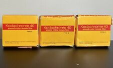 Kodachrome 40 Super 8 Movie Film w/Sound Lot  Expired 1977 Vintage
