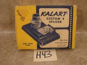 H43 VINTAGE KALART CUSTOM 8 SPLICER ORIGINAL BOX