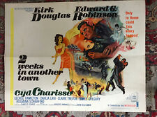 """2 Weeks In Another Town 1962 MGM 22x28""""half sheet Kirk Douglas Cyd Charisse"""