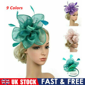 Elegant Feather Flower Headwear Alice Band Fascinator Womens Wedding Party Decor