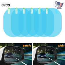 6PCS Car Anti Fog Anti-glare Rainproof Rearview Mirror Trim Film Cover Protector