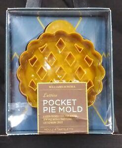 Williams-Sonoma Lattice Pocket Pie Mold Mini Hand Pies w/ Recipe Easy Quick Fun