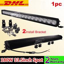 "1pc 33.5"" 180W Single Row LED Driving Light Spot Bar Offroad 4WD UTE ATV 4X4"