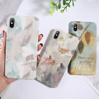 For iPhone X 6s 7 8 XS Max XR Case Shockproof Ultra Thin Pattern Hard Back Cover