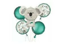 Koala Bear 5 PC Balloon Bouquet Birthday Party Decorations Supplies~New~