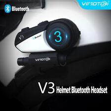 Interphone BT Bluetooth Motorcycle Helmet Intercom Headset Riders V3 Motorbike