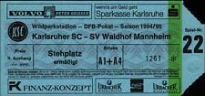 Ticket DFB-Pokal 94/95 Karlsruher SC - SV Waldhof Mannheim, Stehplatz ermäßigt