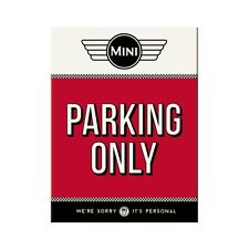 MINI Parking only Kühlschrankmagnet Fridge Refrigerator Magnet 6 x 8 cm