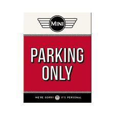 MINI Parking only Kühlschrankmagnet Fridge Refrigerator Magnet 6 x 8 cm