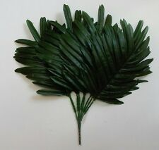 "15"" Green Palm Leaf (12 Picks) Plant Home Office Kitchen Wedding Flower Decor"