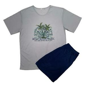 Men's Pyjama Shorty T- Shirt With Short Trousers Pyjama plus Size M-5XL