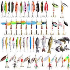 10/30x Fishing Lures Crankbaits Treble Hooks Minnow Spinner Baits Tackle Bass US