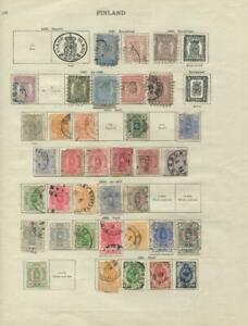 FINLAND: 1860-1891 Examples - Ex-Old Time Collection - Album Page (42921)