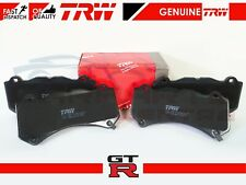 FOR NISSAN R35 GTR GT-R FRONT GENUINE TRW PREMIUM QUALITY BRAKE PADS SET NEW