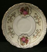 Vintage Norleans Porcelain Victorian Couple Saucer Gold Accents Made in Japan