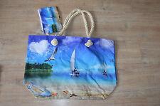 XXL Tasche ♥ große Strandtasche ♥ Sporttasche Badetasche Shopper NEU Segelboot