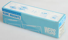 WESS PLASTIC 2X2INCH 35MM GLASS SLIDE MOUNT HOLDERS BOX OF 50