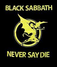 BLACK SABBATH cd lgo Yellow Never Say Die FLYING DEMON Official SHIRT LRG new