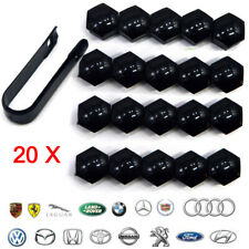 UK 20X Wheel Nut Caps Bolt Cover 17mm for Volkswagen Golf MK4 Passat Audi Beetle
