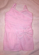 Maggie & Zoe One piece shorts Romper sleeveless pink/white stripe Size 2T  H2