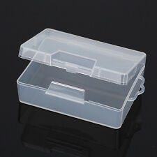 Clear Plastic Transparent With Lid Storage Box Collection Container Case