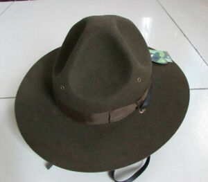 Drill Sergeant Army Instructor Trooper Military Park Ranger Wool Felt Hat Olive