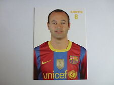 ANDRES INIESTA OFFICIAL BARCELONA FC POSTCARD FROM 2011 *RARE*