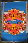 Vintage Original Blacklight Poster 1967 Dan Shupe Corvette Poster Prints P1438