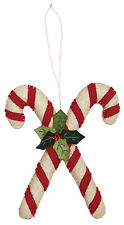 Candy Canes Wool Christmas Ornament