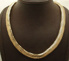 "19"" Technibond Bold Domed Snake Skin Chain Necklace 14K Yellow Gold Clad Silver"