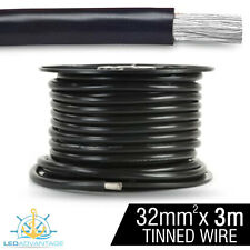 3m X 32mm BLACK 188A MARINE ANCHOR WINCH HEAVY-DUTY BATTERY TINNED COPPER WIRE