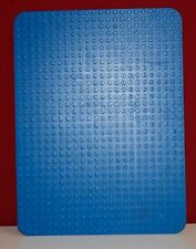Lego Platte, Bau platte 32 x 24 Noppen Basic 24x32 Rasen rund Ecke, blau