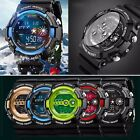 Mens Stainless Steel LED Digital Date Alarm Sports Military Watch fatherday gift