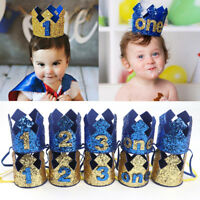 Baby  Boy Head Accessories Hairband Baby Elastic Brithday Number Crown Headwear