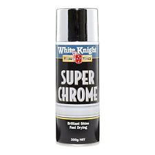 White Knight 300g Super Chrome Spray Paint - Fast Drying