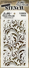 NEW! Flourish Floral Layering Stencil - Stampers Anonymous Tim Holtz Collection