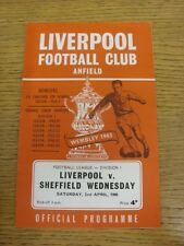 02/04/1968 Liverpool v Sheffield Wednesday  . Thanks for viewing this item, buy