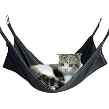 Petneces Cat Hammock Bed Pet Cage Hammock Reversible Hanging Bed Warm/Cool Mat