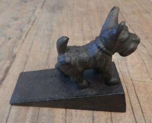 Cast iron Scottie dog door stop door wedge Scottish terrier UK seller