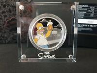 The Simpsons Homer Tuvalu 2019 1oz Silbermünze Silver Coin 4680 Perth Mint