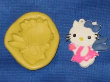 Hello Kitty Angel Push Mold Food Safe Silicone #819 Cake Chocolate Resin Clay