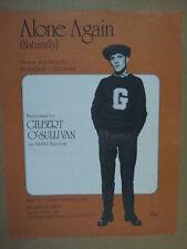 song sheet ALONE AGAIN Gilbert O Sullivan 1972