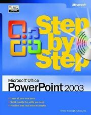 Microsoft Office PowerPoint 2003 Step by Step Book/CD Package