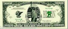 100 US BILLION DOLLAR BILLS REPLICA FAKE NOVELTY MENS BOYS TOY GIFT
