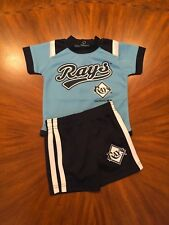 Baby Boy Tampa Bay Rays Baseball Team Outfit Size 3-6M