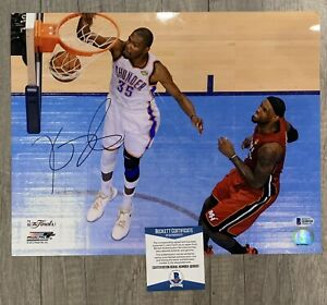Kevin Durant Signed Golden State Warriors 11x14 Photo Auto Beckett BAS COA
