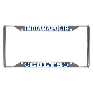 Fanmats NFL Indianapolis Colts Chrome Metal License Plate Frame Del. 2-4 Days