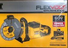 "Dewalt DCS690B 9"" Brushless Flex 60 volt Cut Off Saw w 2 blades NEW Concrete saw"